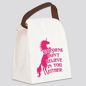Unicorns Don't Believe in You Eit Canvas Lunch Bag