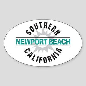 Newport Beach California Sticker (Oval)