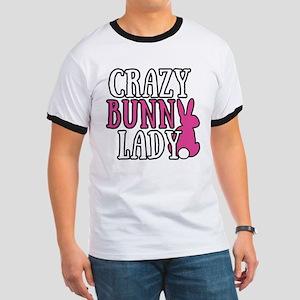 Crazy Bunny Lady Ringer T