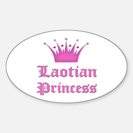 Laotian Princess Oval Decal