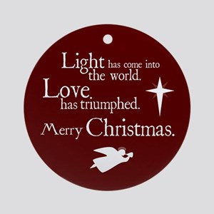 Light & Love Ornament (Round)