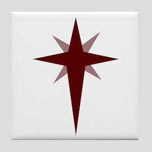 Christmas Star Tile Coaster