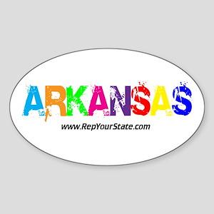 Colorful Arkansas Oval Sticker
