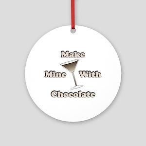 Chocolate Martini Ornament (Round)