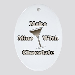 Chocolate Martini Oval Ornament