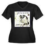 Cat Aries Women's Plus Size V-Neck Dark T-Shirt