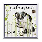 Cat Aries Tile Coaster