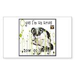 Cat Aries Sticker (Rectangle)