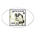 Cat Aries Sticker (Oval)