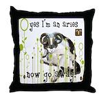 Cat Aries Throw Pillow