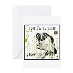 Cat Aries Greeting Card