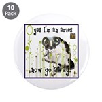 """Cat Aries 3.5"""" Button (10 pack)"""