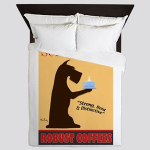 Schnauzer Robust Coffees Queen Duvet