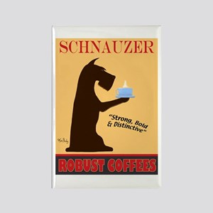 Schnauzer Robust Coffees Rectangle Magnet
