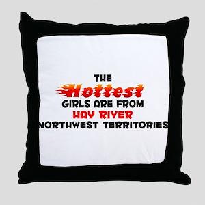 Hot Girls: Hay River, NT Throw Pillow