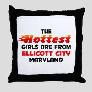 Hot Girls: Ellicott Cit, MD Throw Pillow