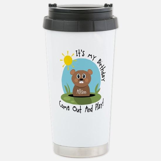 Allison birthday (groundhog) Mugs