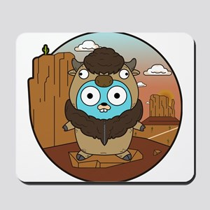 Buffalo Gopher in Desert Mousepad