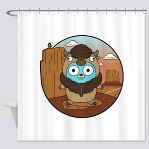 Buffalo Gopher in Desert Shower Curtain