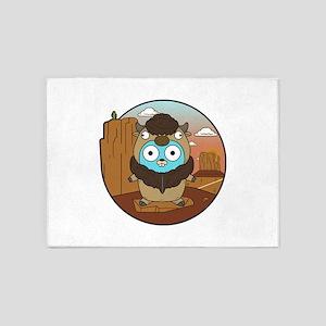 Buffalo Gopher in Desert 5'x7'Area Rug