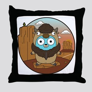 Buffalo Gopher in Desert Throw Pillow