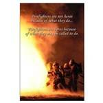 Firefighter Wall Art Large Poster