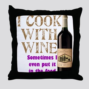 Wine Cook Throw Pillow