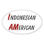 Indonesian American Oval Sticker