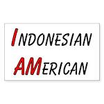 Indonesian American Rectangle Sticker