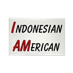 Indonesian American Rectangle Magnet