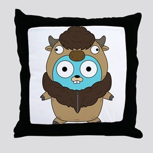Buffalo Gopher Throw Pillow