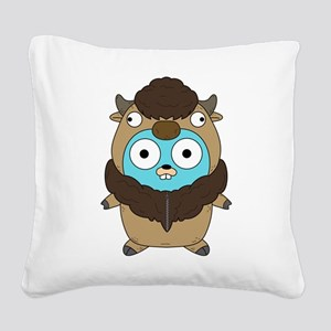 Buffalo Gopher Square Canvas Pillow