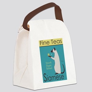 Siamese Fine Teas Canvas Lunch Bag