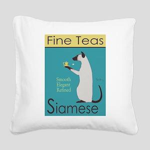 Siamese Fine Teas Square Canvas Pillow