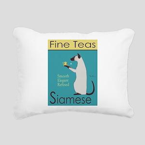 Siamese Fine Teas Rectangular Canvas Pillow