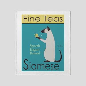Siamese Fine Teas Throw Blanket