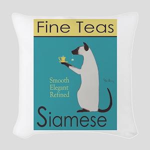 Siamese Fine Teas Woven Throw Pillow