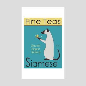Siamese Fine Teas Sticker (Rectangle 10 pk)