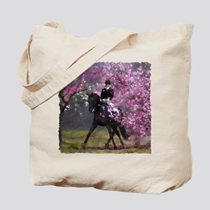 Spring Half Pass Dressage Tote Bag