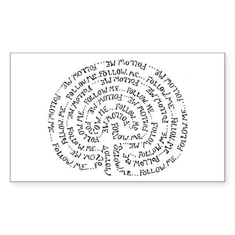 Labyrinth Rectangle Sticker