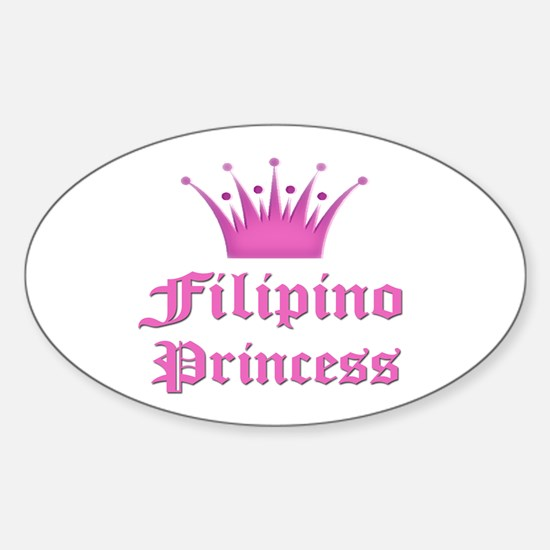 Fijian Princess Oval Decal