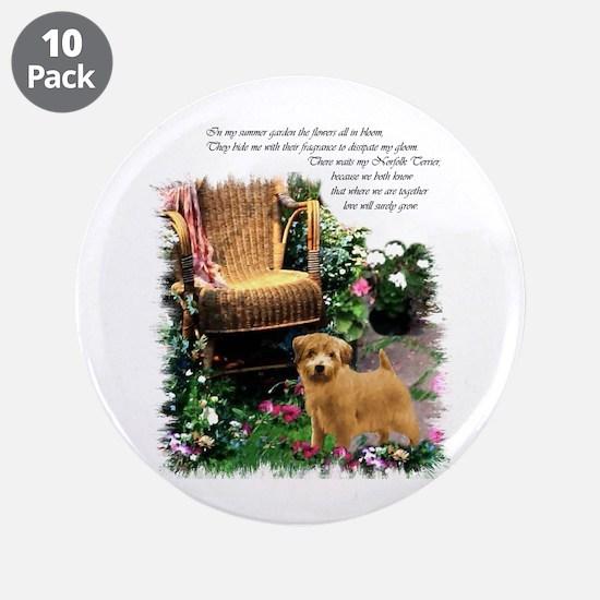 """Norfolk Terrier Art 3.5"""" Button (10 pack)"""