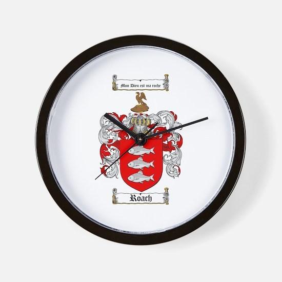 Roach Coat of Arms Wall Clock