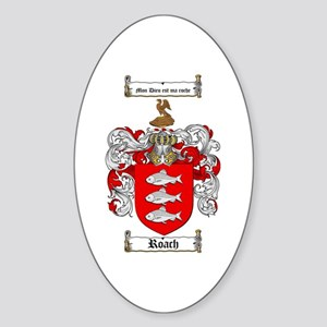 Roach Coat of Arms Oval Sticker