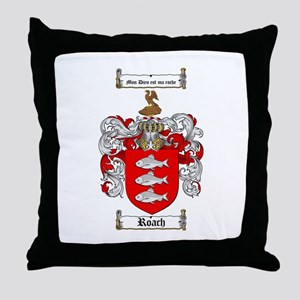 Roach Coat of Arms Throw Pillow