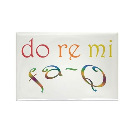 Do Re Mi Fa-Q Rectangle Magnet (10 pack)