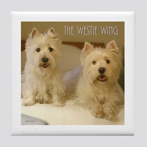 The Westie Wing 2 Tile Coaster