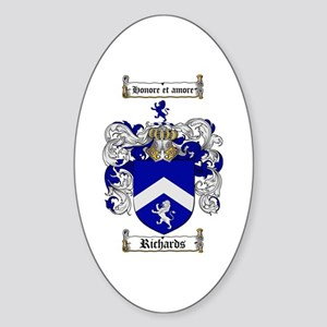 Richards Coat of Arms Oval Sticker
