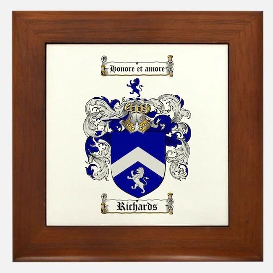 Richards Coat of Arms Framed Tile