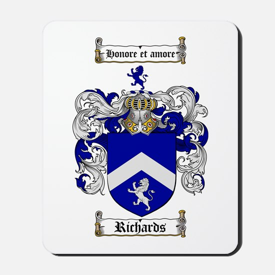 Richards Coat of Arms Mousepad